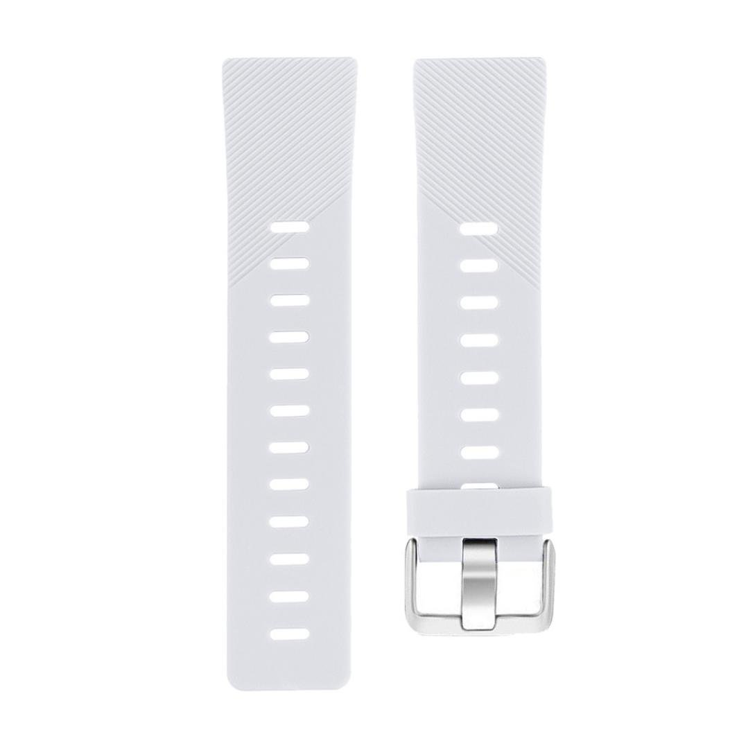 Lovewe Replacement Fashion Sports Twill Silicone Bracelet Strap Band For Fitbit Versa 228mm (White)
