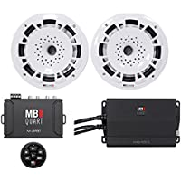 (2) MB Quart NH1-116W 6.5 300w Marine Boat Speakers+Amp+Bluetooth Controller