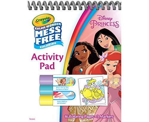 Crayola Color Wonder Disney Princess Coloring & Activity Pad, Mess Free Coloring, Gift for Kids, Age 3, 4, 5, 6 from Crayola