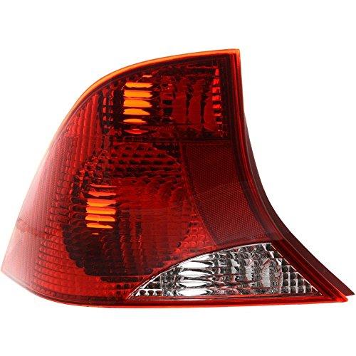 Evan-Fischer EVA15672012685 Tail Light for Ford Focus 00-01 Lens and Housing 3 Bulb Sedan Left Side