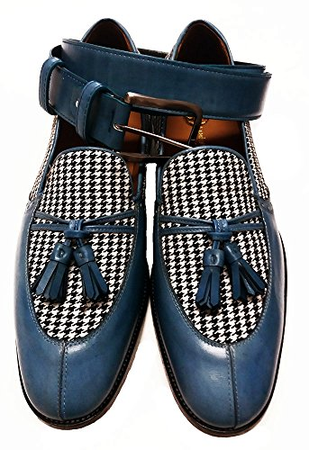 Sitios Web De Descuento Garofalo Gianbattista scarpe uomo mocassini con nappine in pelle e tessuto Nicekicks De Salida Salida En Línea Barato TzUAbnl