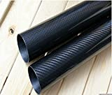 WHABEST Carbon Fiber Tube 30mm x 28mm x 1000mm Quadcopter Multicopter 3K Roll Wrapped High Gloss