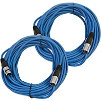 Seismic Audio SAXLX-50Blue-2Pack Pair of Blue 50-Feet XLR Male to Female Microphone or Patch Cable (2 Pack)