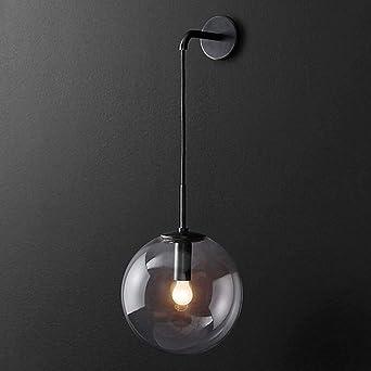 De Boule Verre Mur Lampe Led Nordic Simple Lampes Chambre En Salon WYEH29ID