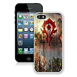 Beautiful Designed Case With Wood Horde Symbol White For iPhone 5S Phone Case