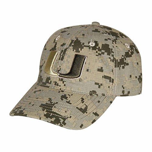 Ouray Sportswear NCAA Miami Hurricanes Digital Camo Cap, Adjustable Size, Digital - Camo Miami Hurricanes