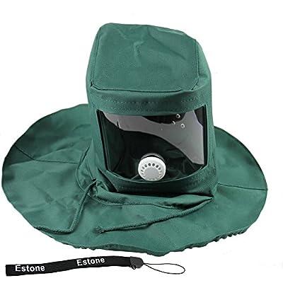 Estone New Sand Blasting Hood Sandblaster Hood Mask Cap Anti Wind Dust Protective Tool