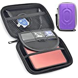 Polaroid ZIP Mobile Printer Case - Fashionable Carrying Case protects your Mobile Printers, Photo Paper, USB cables and SD cards while traveling - Easily fits in a backpack or purse - (Purple)