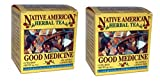 Good Medicine Native American Herbal Tea (2 Pack, 24 bags), Spearmint Flavor