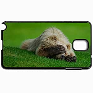Customized Cellphone Case Back Cover For Samsung Galaxy Note 3, Protective Hardshell Case Personalized Bear Paw Claws Shame Badun Grass Black