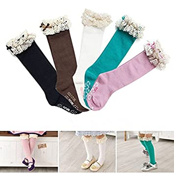 Viskey Pack Of 2 Baby Girls Infant Ballet Ballerina Socks Packs Anti