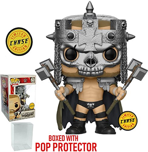 Funko Pop! WWE: Triple H Skull King CHASE Variant Limited Edition Vinyl Figure (Bundled with Pop Box Protector Case) by Funko