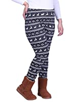 HDE Women's Winter Leggings Warm Fleece Lined Thermal High Waist Patterned Pants