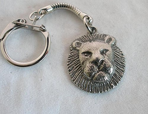 Solid Pewter Lion Keychain ()