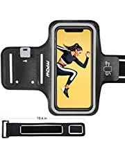 Mpow Running Armband for iPhone 8/ 7/ 6S/ 6  Phones Up to 5.8'' , Sweatproof Sports Armband with Extension Strap/Card Pocket/Key Holder and Earphone Holder, Suitable for Running, Jogging
