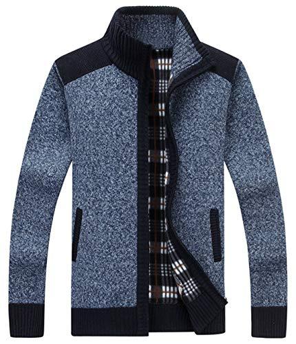 HOWON Mens Fashion Zipper Cardigan Sweaters