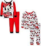 Disney Baby Girls' Minnie Mouse 4-Piece Cotton