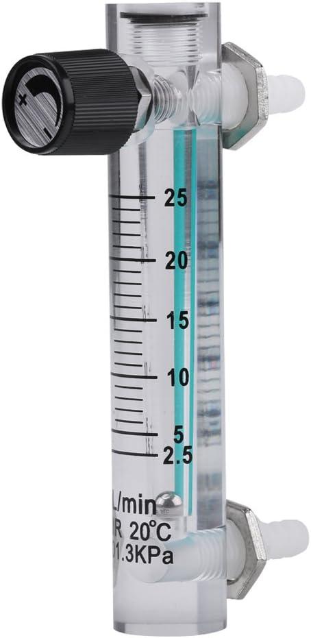 5-25 Lpm Durchflussmesser mit Steuerventil f/ür Sauerstoff//Luft//Gas iFCOW Gasdurchflussmesser Lzt-5 Durchflussmesser 2
