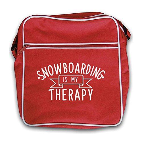 Mi Es Viaje Retro Terapia De Rojo Negro Snowboard Bolsa AgwqdA5
