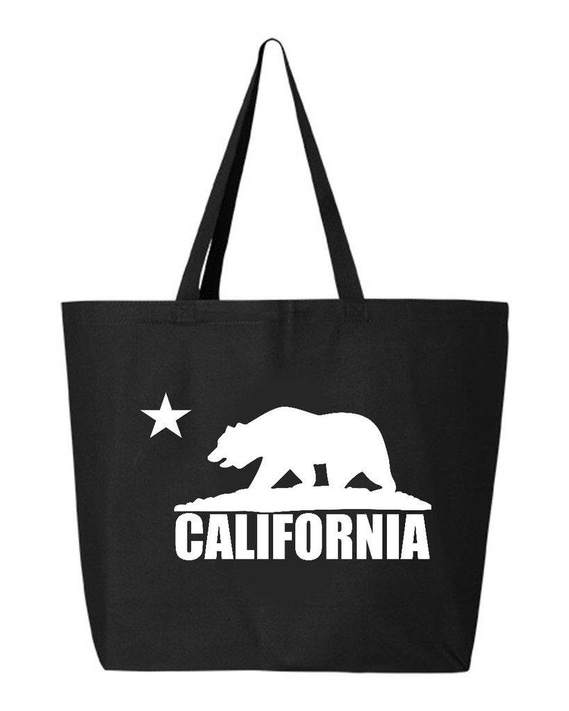 shop4ever CaliホワイトBear HeavyキャンバストートバッグCalifornia Republic再利用可能なショッピングバッグ10オンスジャンボ 25 oz ブラック EGYT_1215_CalWhtBear_TB_Q600_Black_2 B06XP163YN ブラック, 水戸元祖 天狗納豆 95ed0c39