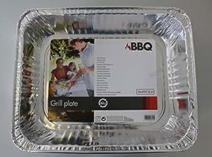 Aluminio Sartén, parrilla, barbacoa Carcasa, 36x 29x 7,8cm (214)