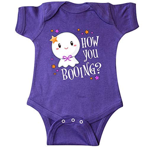 inktastic - How You Booing? Cute Ghost Infant Creeper 6 Months Purple 33247 ()