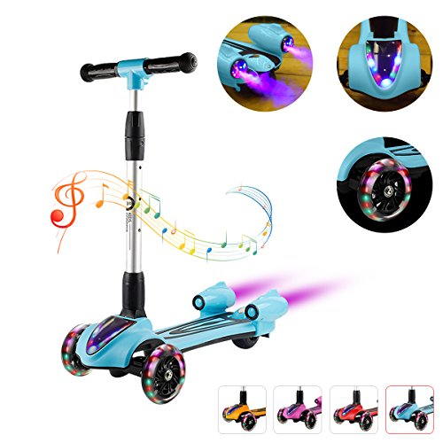 XJD Toddler Kick Scooter for Kids Deluxe Aluminum 3 Wheel Glider 4...