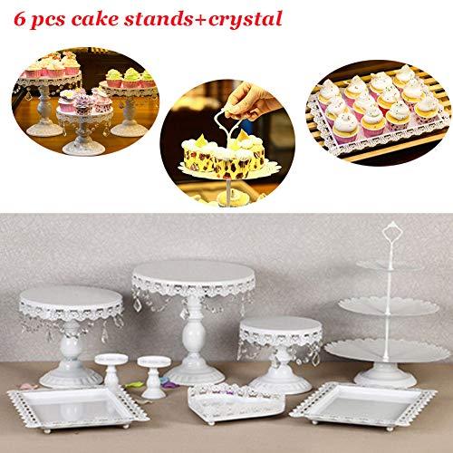 Antique Glass Cake Stand Vilavita 3 Set Antique Cake