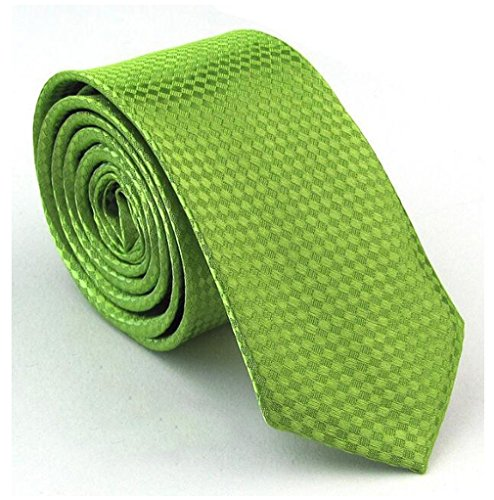 Mens Classic Shiny Tie Green Groom Groomsmen Standard Plaid Woven Jacquard Tie Soild Men's Necktie Great for Daily Dress Wedding Engagement Business Meeting Birthday Party by - Tie Shiny