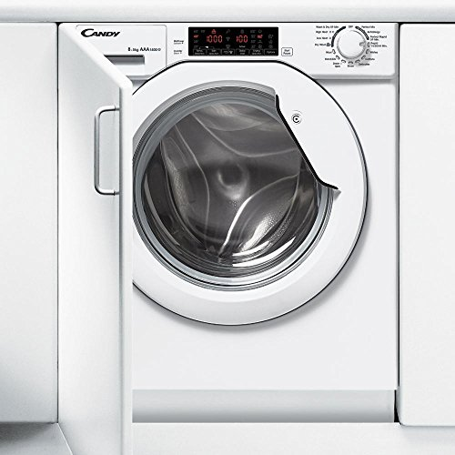 Candy CBWD8514TWH-80 Integrated Washer Dryer 8kg Wash, 5kg Wash & Dry, 1400 Spin, LED Digital Display