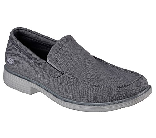 Skechers Men's Relaxed Fit-Caswell-Lander Loafer Gray buy cheap cost rAEcXzLX