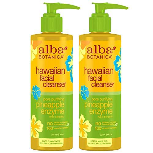 - Alba Botanica Hawaiian Enzyme Face Cleanser, Pineapple, 8 oz (2pack)