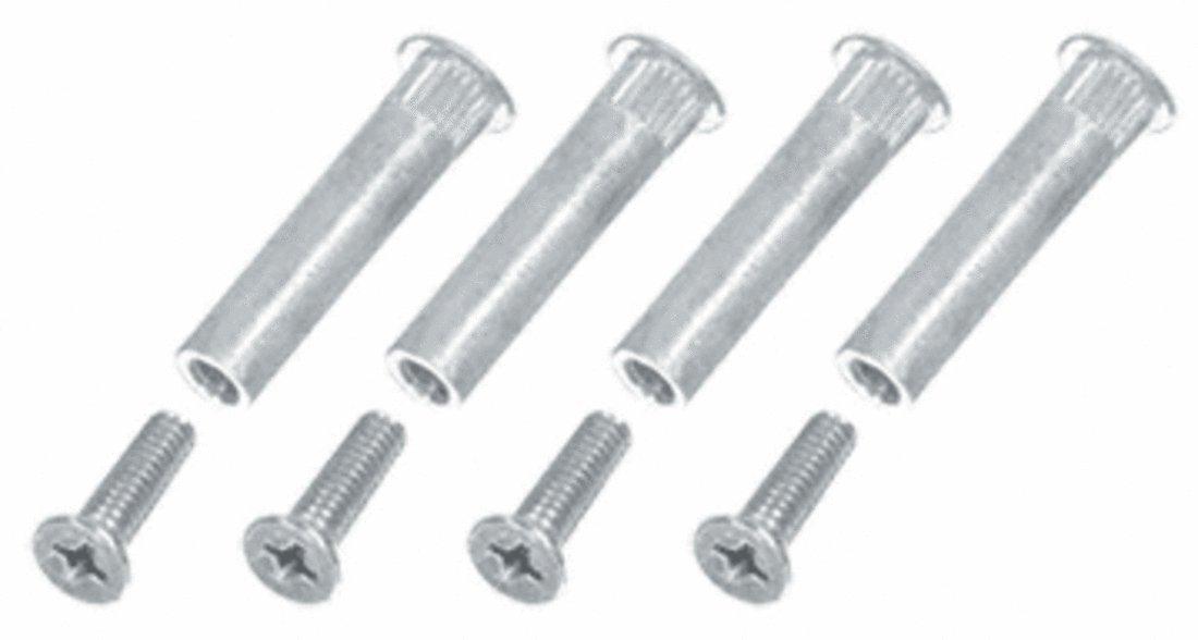 CRL Aluminum Finish Sex Bolt Mounting Screws - Package
