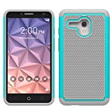 Alcatel Fierce XL Case, Asstar Hybrid Dual Layer Armor Defender Shock Absorption Drop Protection Protective Case Cover for Alcatel OneTouch Fierce XL (5054) (Mint)