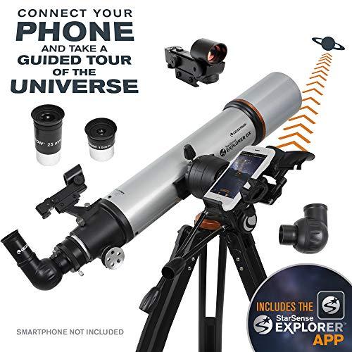 Celestron Telescopio StarSense Explorer DX 102 StarSense Explorer™ DX 102AZ Smartphone App-Enabled Refractor Telescope