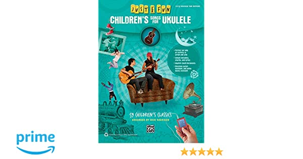 Amazon Alfred Just For Fun Childrens Songs For Ukulele Easy