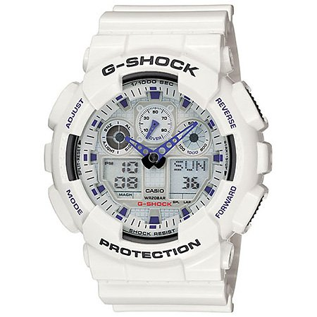 G-Shock GA100A-7A Classic Series Designer Watches – White