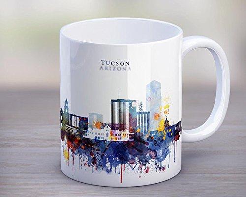 Mug Tucson Coffee - Tucson City Skyline Mug,Arizona Coffee Mug,Home Cup,Travel Souvenir,Birthday Christmas Anniversary Gifts Idea,Tea Mug 11oz