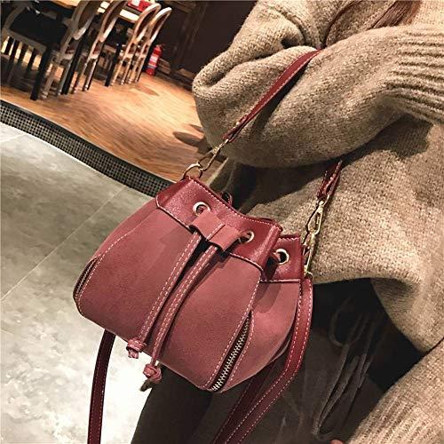Mini rosso a donne scrub vino rosso cintura per vino funzione borsa moda diagonale borsa secchio femminile Borsa femminile piccola multi creativo tracolla le RUdqw4xz74