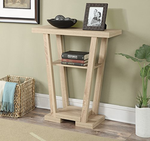 Convenience Concepts Modern Newport V Console Table, Weathered White