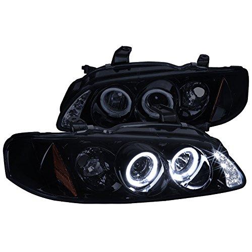 Spec-D Tuning 2LHP-SEN00G-TM Nissan Sentra Dual Halo Led Glossy Black Housing Projector Headlights 02+ Sentra Ser Spec