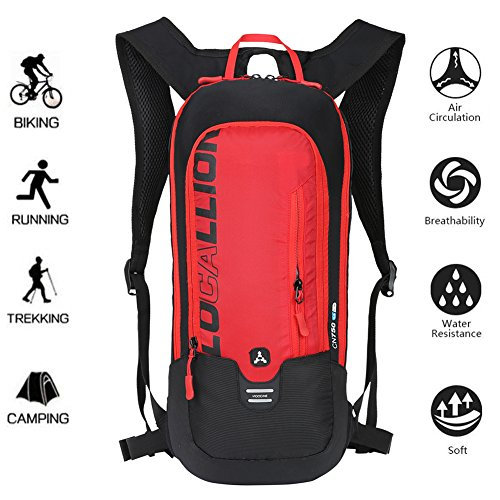 LOCALLION Cycling Backpack Biking Backpack Riding Daypack Bike Rucksack Breathable Lightweight for Outdoor Sports Travelling Mountaineering Hydration Water Bag(Not included)men women 10L - Friday Black Promotion Codes