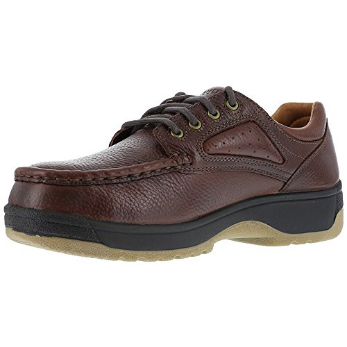 Compadre Met Florsheim Brown Oxfords Steel Dark Leather Womens Brown Toe Guard wqqaOF4