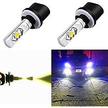 Alla Lighting 3800lm 899 880 LED Fog Light Bulbs Xtreme Super Bright 892 880 LED Bulb ETI 56-SMD LED 880 Bulb for Auto Motorcycle Cars Trucks SUV Fog DRL Lights, 6000K Xenon White (Set of 2)
