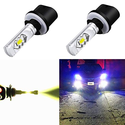 Alla Lighting 3800lm 899 880 LED Fog Light Bulbs Xtreme Super Bright 892 880 LED Bulb ETI 56-SMD LED 880 Bulb for Auto Motorcycle Cars Trucks SUV Fog DRL Lights, 6000K Xenon White (Set of 2) - 1991 Escort Ford Mercury Tracer