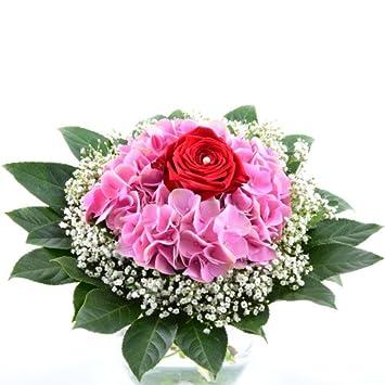 Blumenversand Blumenstrauss Geburtstag Lovely Rose Hortensie