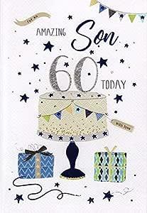 Tarjeta de felicitación de 60 cumpleaños para un hijo maravilloso ...