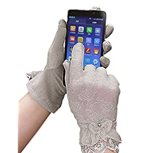 Women Lace Uv Protection Gloves Summer Short Driving Gloves Touch Screen