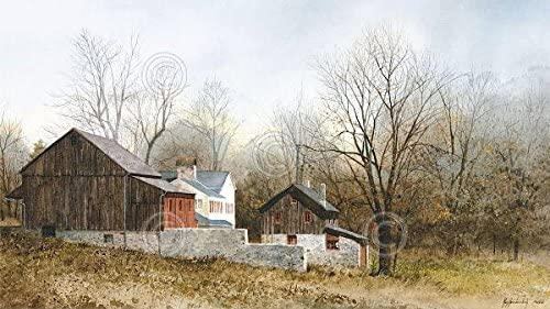 North Of New Hope Ray Hendershot Barn Country Fall Tree Building Poster Choose Size Of Print Amazon Ca Home Kitchen