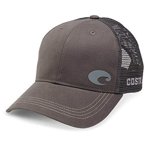 Costa Del Mar Offset Logo XL Fit Trucker Hat, Gray ()
